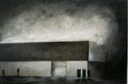 Alfred Wirz · Aargauer Kunsthaus bei Nacht, 1989, Öl auf beschichtetem Sperrholz, 55 x 82 cm. © Pro Litteris, Zürich