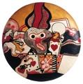 Antonio Dias · Jogo da náusea, 1964, Öl und Acryl auf gepolsterter Leinwand, 60 x 60 x 8 cm, Daros Latinamerica Collection, Zürich.?Foto: Peter Schälchli