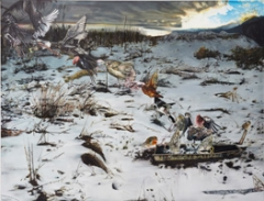 Léopold Rabus · Envol d'oiseaux, 2009, Öl auf Leinwand, 240 x 300 cm, Privatsammlung, Zürich