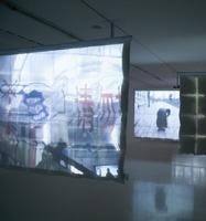 Ian Anuell . Grande Rue I-III, 2008, Videoinstallation.