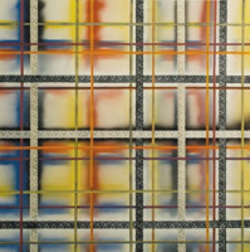 Christina Niederberger · In Bruges, 2010, Öl, Acryl- und Sprayfarbe auf Leinwand, 115 x 115 cm