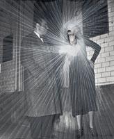 Dimitri Prigov · Couple, 2006, Scotch-Tape auf Foto, 40 x 33 cm, Courtesy Galerie Sandmann, Berlin