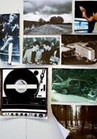 Sladjan Nedeljkovic · Konstellationen, 2007, Zeitungsbilder, Fotokopien, Computerprints, Postkarten und Fotos auf Wellkarton (Detail)