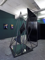 Loredana Sperini · poco più in là, 2010, steel, wood, mirror, antique glas. Freymond-Guth & Co. Fine Arts, Zürich