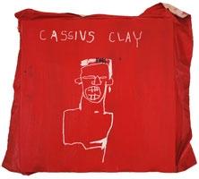 Jean-Michel Basquiat · Cassius Clay, 1982, Acryl und Ölkreide auf Leinwand auf Holz, 106 x 104 cm, 2010. © ProLitteris, Courtesy Sammlung Bischofberger