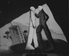 Anatol Wyss · Zwei Täter, Tiefdruck, Vernis-mous, Aquatinta, 1993