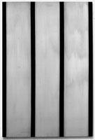 Peter Haubensak · Manhattan Verticals (N.Y.), 1970, Acryl auf Baumwolle, 195x130 cm