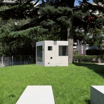 Pierre Vadi · Lemme, 2013, sculpture et espace d'exposition, Sion