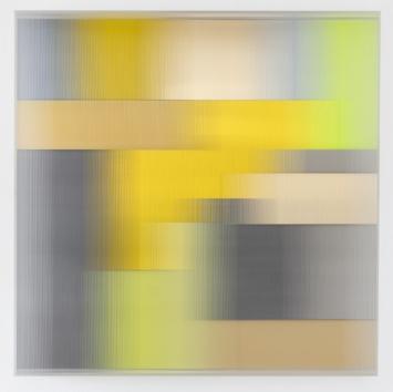 """""""golden nots"""" 2015 Mixed Media - Plexi, 60 x 60 cm"""