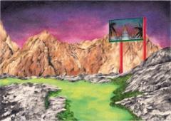 Marta Riniker-Radich · Ohne Titel, 2009, Bleistift auf Farbstift auf Papier, 21 x 29,7 cm