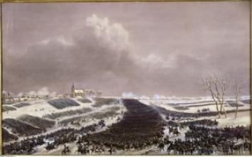 Jean-Antoine-Siméon Fort · Die Schlacht von Eylau am 8.2.1807, ca. 1836