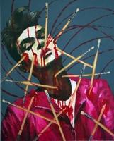Dawn Mellor · Morrissey, 2007, Öl auf Leinwand, 76,2 x 90,96 cm. Foto: Tindaro Gagliano