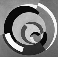 Ubi Bava · Circulos Estáticos Dinâmicos, 1955, Öl auf Leinwand, 80 x 80 cm Courtesy Paulo Kuczynski und Cisneros Fontanals Art Foundation. Foto: Romulo Fialdini