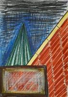 Otto Lehmann · o. T., 2010, Farbstift auf Papier, 21 x 29 cm