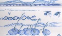 Judit Villiger · 2011, Skizze zum Wandbild, Ausschnitt