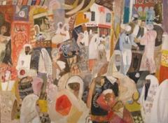Werner Holenstein · Grosser Bazar, 2010, aus der Serie der Enveloppes, Öl auf Leinwand