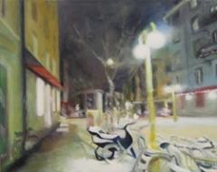 Andrea Muheim · Josefstrasse, 2011, Öl auf Leinwand, 40 x 50 cm