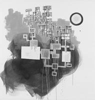 Magdalena Z'Graggen · #S2310-1, 2010, Öl auf Papier, 142 x 150 cm