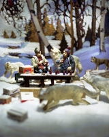 Diana Thorneycroft · Early Snow with Bob and Doug, 2005, Foto, 127 x 101,6 cm
