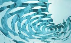 L'Assemblée des catastrophes (2011) Encres de couleur sur papier