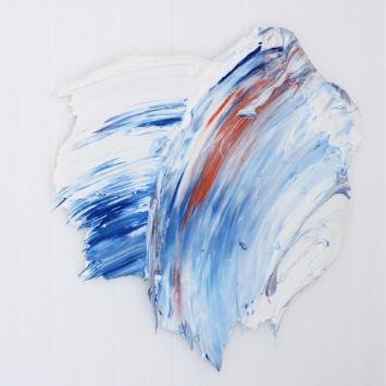 2016, Polymer und Pigment auf Alu,