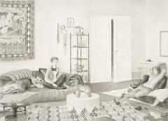 Anna Lea Hucht · Sprich mit Deiner Seele, 2009, Aquarell auf Papier, 48,3 x 67 cm