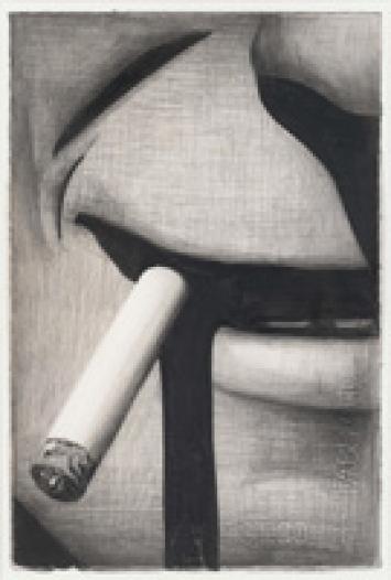 Marcel van Eeden · Oswald's Dream (1946), 2006-2007, 38 Zeichnungen, Nerostift, Farbstift und Gouache auf Bütten, 49,3 x 62 cm. Courtesy Stedelijk Museum Amsterdam