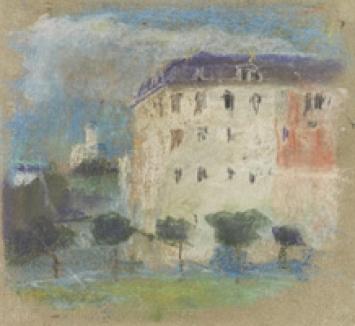 Albert Welti · Selnau bei Zürich, um 1890, Pastell, 19 x 21 cm, Schaffhausen, Museum zu Allerheiligen