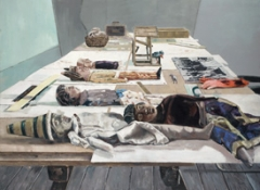 Marc-Antoine Fehr · Le plan de travail, 2009, Öl auf Leinwand, 220 x 300 cm