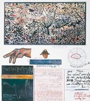 Yüksel Arslan · General paralysis, 1990, Mischtechnik auf Papier, 39 x 35 cm
