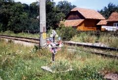 Roman Signer · Strassenbilder, Karpaten, Ukraine, Rumänien, 2005, Serie von 47 Farbfotografien, je 31 x 49 cm, Aargauer Kunsthaus