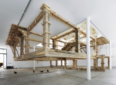 Petrit Halilaj, The places I'm looking for, my dear, are utopian places, they are boring and I don't know how to make them real, 2010. Installationsansicht 6. Berlin Biennale für zeitgenössische Kunst, Berlin. Photo: Uwe Walter
