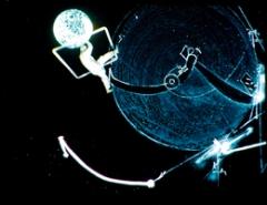 Klaus Lutz · Field of Powder, 1993/2004, C-Print, 16-mm-Filmstill. Courtesy Rotwand Zürich