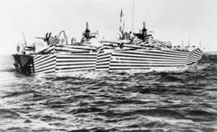 Torpedoboot der US Navy mit Dazzle Camouflage, 2. Weltkrieg, Courtesy Imperial War Museum, London
