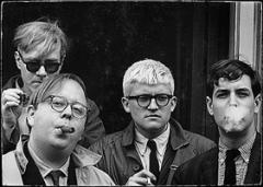 Dennis Hopper · Andy Warhol, Henry Geldzahler, David Hockney and Jeff Goodman, 1963 © The Dennis Hopper Trust
