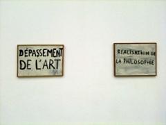Guy Debord · Dépassement de l'art und Réalisation de la Philosophie, 1963. Foto: Weisswald