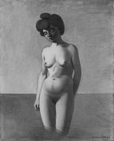 Edouard Vallotton · Baigneuse de face, 1907, Öl auf Leinwand, 81 x 65 cm. Foto: Reto Pedrini