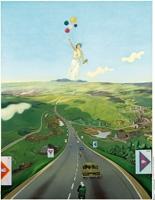 Wolfgang Mattheuer . Hinter den sieben Bergen, 1973, Oel auf Hartfaser. Sammlung: Museum der
