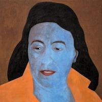 Daniel Berset · Visages, 2011-2012, Tempera auf Holz, 26 x 26 x 2 cm, Courtesy Anton Meier