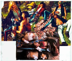 Thomas Hirschhorn · Collage Truth n°81, 2012, Drucksache, Klebeband transparent, Plastikfolie transparent, 40,5 x 46,5 cm ©ProLitteris, Courtesy Galerie Susanna Kulli, Zürich
