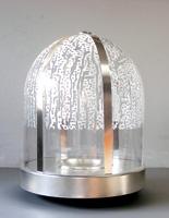 Till Velten · Brunnen mit Wasserzelt, 2012, Silber, Glas, 46 cm, Ø 32 cm