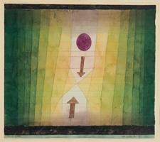 Paul Klee · vor dem Blitz, 1923, 150, Aquarell, Bleistift, Feder auf Papier und Karton, 28 x 31,5 cm, Fondation Beyeler, Riehen/Basel