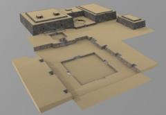 Schematische Tempel-Rekonstruktion, Chavín de Huántar, 1. Jahrtausend v. Chr. Bild: Museum Rietberg und ArcTron 3D
