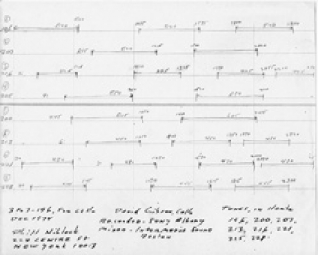 Score 3 to 7, for cello, 1974