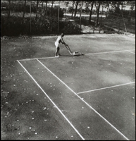 Julius Koller · Time-Space Defining Psycho- Physical Activity of Material-Tennis (Antihappening), 1968