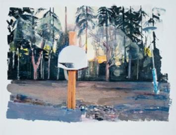 Basketball-Korb, 2011, Öl auf Leinwand, 106x136cm