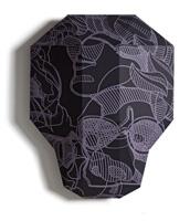 Valentin Magaro · Mask 1, 2012, Bedrucktes gefaltetes Papier/Karton, 36x28x9 cm, Druck: Thomi Wolfensberger, Zürich