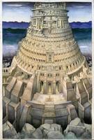 Willi Facen · Turmbau zu Babel I, 2012, Aquarell auf Velin, 96x140cm
