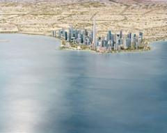 Florian Joye · Doha 2030, 2011, Teil des Modells, das Doha im Jahre 2030 repräsentiert, insbesondere mit einem 1km hohen Turm, dem zukünftig höchsten Turm der Welt