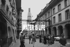 Julius Popp · Water is Life. Bit.fall, 2013, Münstergasse Bern, Projektskizze